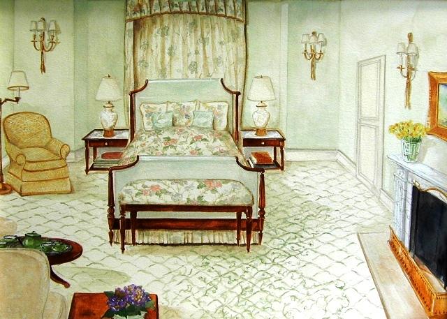 Linda Ruderman Interiors Greenwich Ct Watercolor